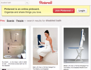 Pinterest search for disabled bath