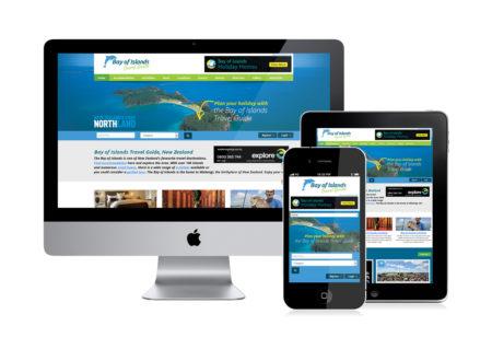 Bay of Islands Travel Guide website design