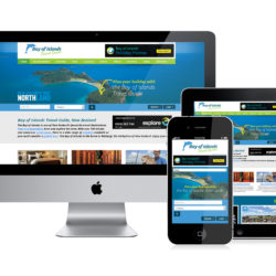 Bay of Islands Travel Guide website design
