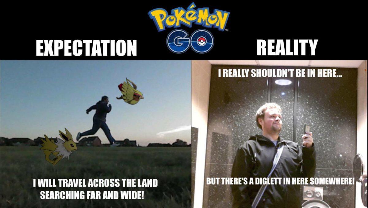 pokemon go expectation and reality meme