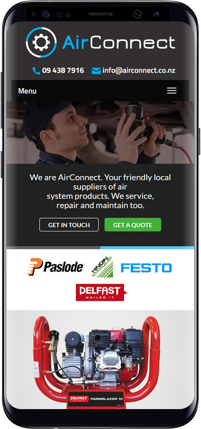 Air Connect website design