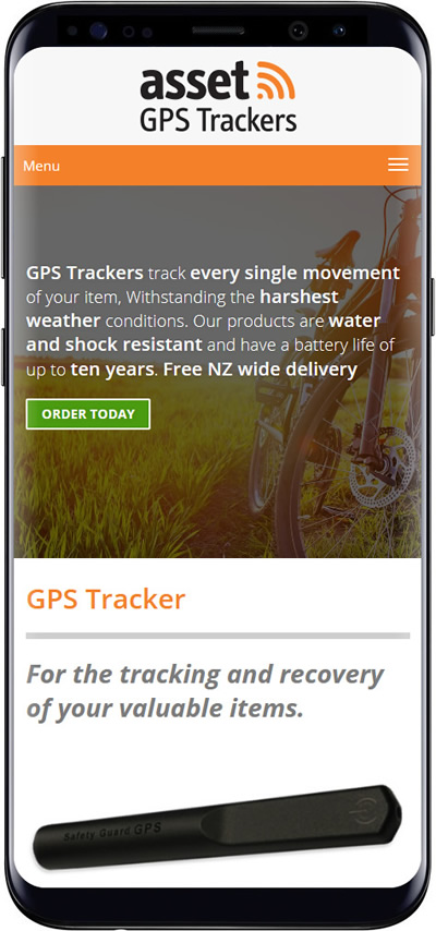 GPS Trackers website design