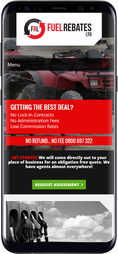 Fuel Rebates website design