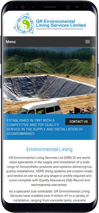 GR Environmental mobile website