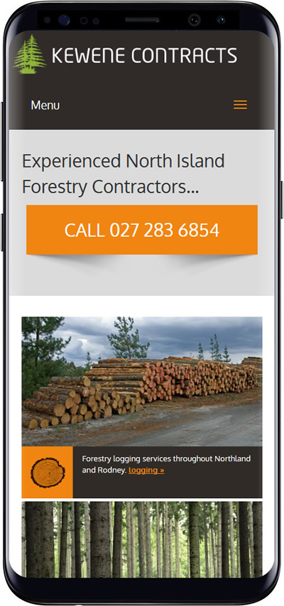 Kewene Contractors website design