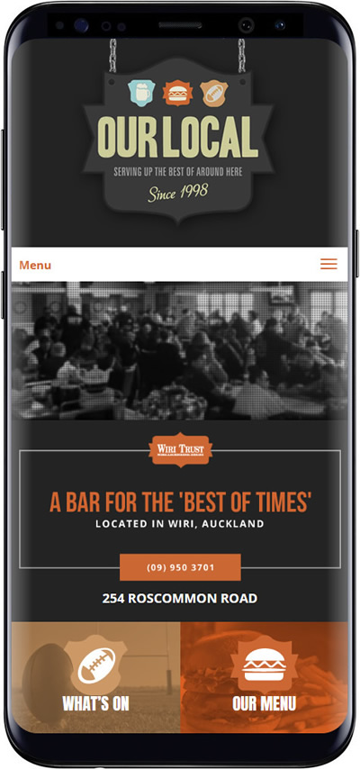 Our Local Bar website design