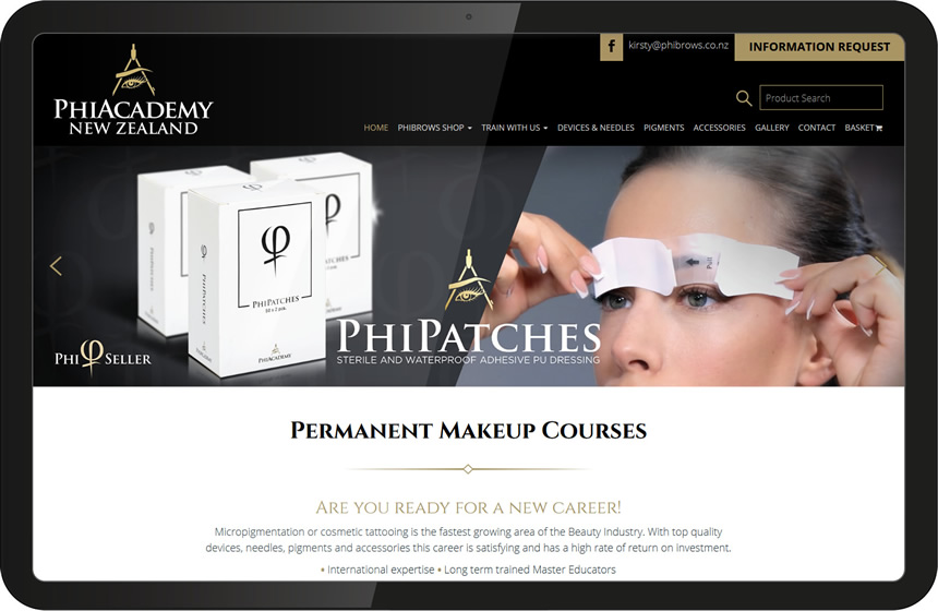 Phi Academy website design