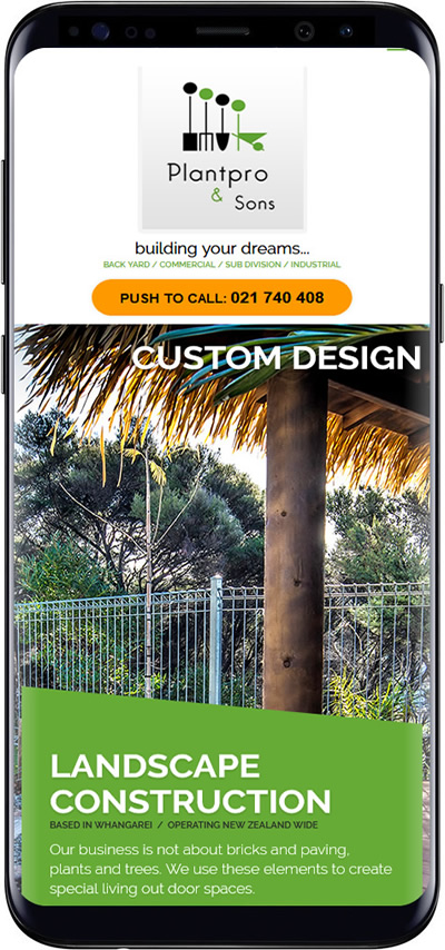 Landscaping website designs