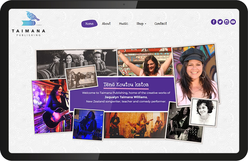 Taimana Publishing website to sell songs online