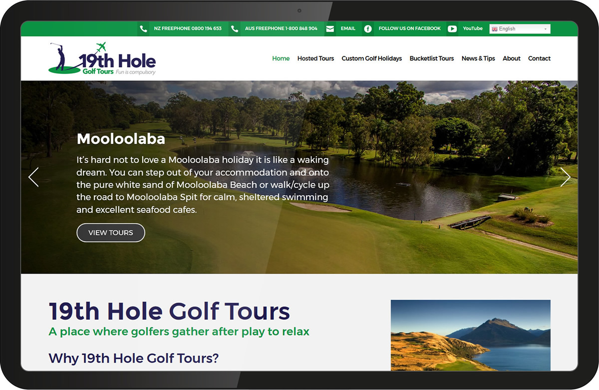 19th hole golf tours