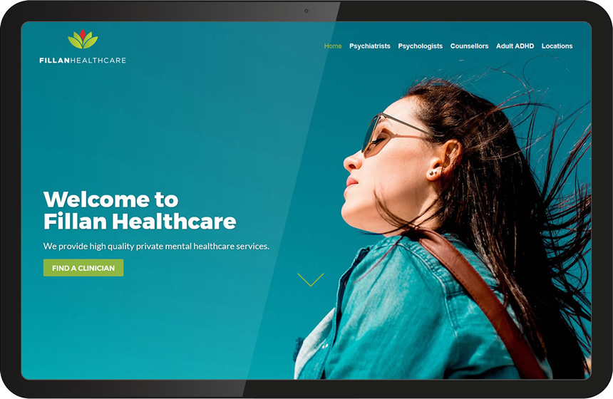 fillan healthcare desktop design