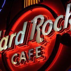 Big neon Hard Rock Cafe logo