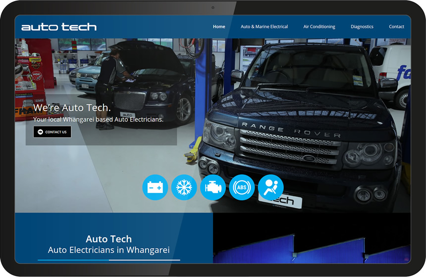 Auto Tech car electronics website design