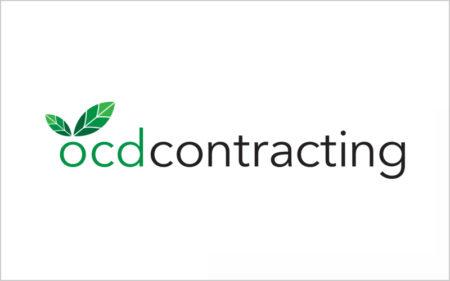 ocd contracting fogden builders logo design